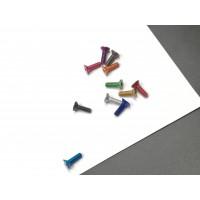 7075 aluminum screw,flat head , M3*6/7/8/10/12/14/16, 11 colors optional, wholesale MK5521