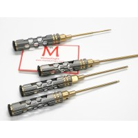 HSS titanium plated hex driver set with holes on handle MK5402