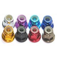 Aluminum lock nut M2 M3 M4 M5 M6 nylon inserted different color acceptable MK5403